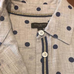 Talbots Polkadot Shirt